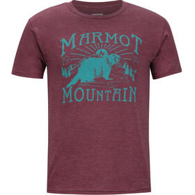 Marmot M's Sunrise SS Tee Burgundy Heather